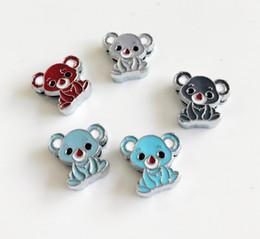 10pcs 8 MM émail couleur mixte glissade Koala charmes perles accessoires de bricolage fit 8 mm collier ceintures bracelets ? partir de fabricateur