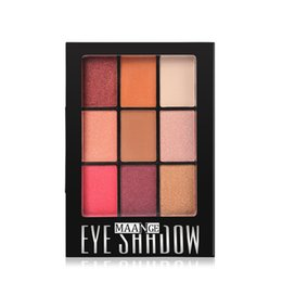 Золотые тени для век онлайн-maquiagem profissional Fashion 9 Colors Eyeshadow Palette paleta de sombra  Golden Matte Nude Eye Shadow Palettes #61