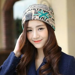 Wholesale Korean Style Hats For Women - New Style Vogue Trendy Korean Style Flag Printing Cotton Cap Multi-purpose Casual Hat For Women Ladies Female FS0392