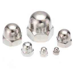 Lot nouveau en gros de 25pcs M3 / M4 / M5 / M6 / M8 / M10 / M12 A2 (304) écrous à tête cylindrique en acier inoxydable DIN1587 ? partir de fabricateur