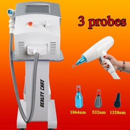 Wholesale medical cosmetics - Medical cosmetic laser q-switched na yag laser tattoo removal eyebrow tattoo removal scar freckle removal machine