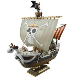 Um jogo de anime on-line-Figuras de jogos 35 cm Anime One Piece Mil Sunny Meryl Boat Figura do Navio Pirata Figura de Ação Brinquedos Brinquedos Presentes