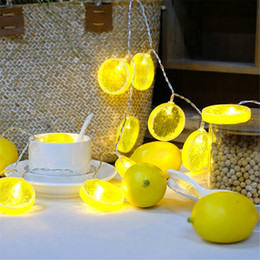 lampe au citron Promotion 1 M 10 LED / 3M 20 LED Puissance de la Batterie Citron Patten Fairy Chaîne Lumière Décor Jardin Lampe De Noël Vacances # 250029