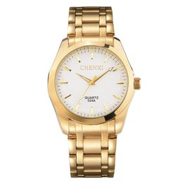 top luxury watch brands for women Coupons - CHENXI Luxury Gold Women Watch Minimalism Golden Dress Wristwatch for Lady Top Brand Narrow Strap Stainless Steel Waterproof