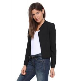Arbeit tragen ol formale Frauen Blazer Baumwolle Jacke Büro Dame Kostüm Business  Frau einheitliche weibliche Anzug Tops weiß gelb schwarz günstige frauen s  ... 37632711b4