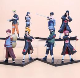 Wholesale Naruto Minato - 2pcs set anime Naruto Uzumaki Naruto Hyuuga Hinata Minato Hatake Kakashi Sasuke Gaara PVC Action Figures Collectible Model Toys