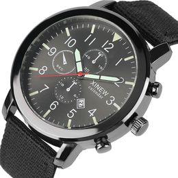 Wholesale Watch Numbers Face - Sport Men Calender Auto Date Luminous Quartz Wrist Watch Arabic Number Face Dial Nylon Band Military Stylish