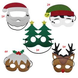 Nova marca máscara de natal papai noel máscara para adultos e crianças natal rena forma de árvore de natal máscara de natal decoração do partido favores de