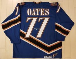 Wholesale Adam Oates - Custom Adam Oates Washington Capitals Vintage CCM Cheap Hockey Jersey Blue Mens Retro Jerseys