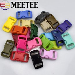 Wholesale Rope Clasp Plastic - 50 Sets lot Backpack Plastic Buckle Pet Safety Clasp Umbrella Rope Bracelet Clasp Suitable for 10mm Wide Webbing