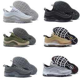 Wholesale Plastic Lawns - Hot Sale New Men Casual Shoes Air Cushion 97 Plastic Cheap Training Shoes Fashion Wholesale Outdoor Running Shoes Sneakers Size 40-46