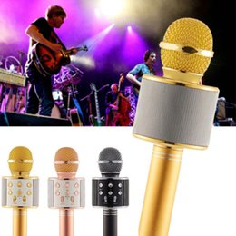 Wholesale Magic Tablet - WS858 Bluetooth wireless Microphone HIFI Speaker Condenser Magic Karaoke Player MIC Speaker Record Music For Android Tablets PC