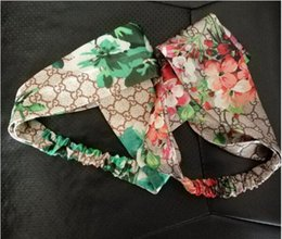 Wholesale ladies fabric headbands - 2018 New Headbands For Women Print Elastic Hairbands Lady Hair Ornament Holder Hair Bands Accessories