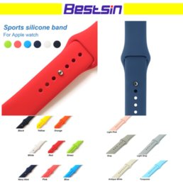 Wholesale Transparent Watch Silicone - Colorful Sport Solid Silicone Smart Straps Watch Bands For apple Watch Series 1 2 3 38 42mm Bracelet Avaiable Free DHL
