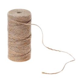 1 rouleau 50 m 80 m 100 m corde de jute corde de toile de jute cordon bricolage faisant artisanat fête cadeau de mariage emballage cordons décor ? partir de fabricateur