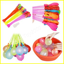 Wholesale wholesale settings - Latex Water Balloons Balls 111pcs set Water Bomb Pump Rapid Injection Summer Beach Games Water inflatable Sprinking Ballons 100Sets