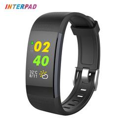 2019 capteur de vitesse Interpad Smart Wristband 0.96 OLED Interface dynamique 3D Fitness Tracker Bracelet intelligent avec bande de capteurs optiques de fréquence cardiaque capteur de vitesse pas cher