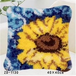 2019 federe di crochet Creativo federa gancio del gancio all'uncinetto cuscino casa divano decorazione fiori modelli girasoli fai da te sconti federe di crochet