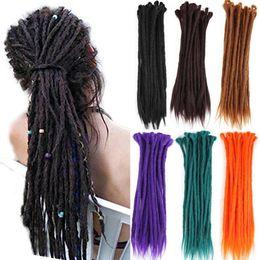 Wholesale kanekalon hair blonde - Synthetic Handmade Dreadlocks Hair Extension Pure Color Braiding Hair Kanekalon Reggae Hair Soft Crochet Braid (Black Blonde)