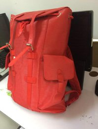 Wholesale Backpack Faux Leather - new arrived red black backpack Mens womens Luxurious brand multifunctional handbags Hiking bags Outdoor mountaineering bags women men