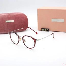 2018 neue Marke Stil reine Titan hohe Qualität Brillen Mode Frauen Brillen klassische Vollrand optische Rahmen für Frauen 9026 von Fabrikanten