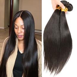 permanentes extensions de cheveux humains Promotion Grade 10A Brésilienne Droite Bundles de Cheveux Humains 100% Non Transformés Brésilienne Droite 4 Bundles Brésiliens Armure de Cheveux Humains