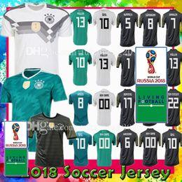 Wholesale uniform germany - Men Women Germany 10 OZIL 5 HUMMELS 8 KROOS 11 WERNER soccer jersey 2018 WORLD CUP 13 MULLER 7 DRAXLER KROOS GOTZE football uniforms shirt