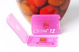 Wholesale iphone 5s ios7 - R-SIM12 Perfect Unlocking IOS11 rsim12 for IOS11 -IOS7 Rsim 12 Rsim 12+ Unlock SIM Card for iphone X i8 8p 7 7p 6plus 6s 5s Sprint AT&T AU