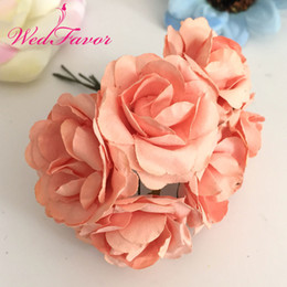 Wholesale rose paper flower australia new featured wholesale rose 144pcs 35cm imitation mulberry paper flowers artificial scrapbooking rose bouquet for garland corsage box wedding decoration mightylinksfo
