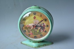 Wholesale Century Free - Rare Chinese old copper beauty clock,Working properly,Mao ze dong,sixties of 20th century,02,beautifully designed,Free shipping