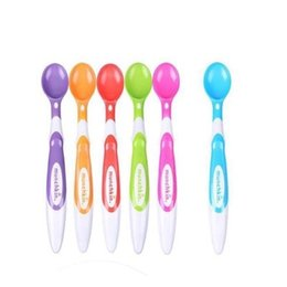 Wholesale Temperature Spoons - 2017 Temperature control color plastic soup spoon soft spoon 6 in one