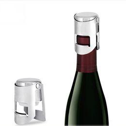 Tappi per bottiglie di vino in acciaio inossidabile online-Tappo di bottiglia di spumante di vino spumante tappo di champagne in acciaio inossidabile di vendita calda tappo di bottiglia