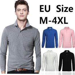 Wholesale Long Sleeve Polo Style Shirts - New Men embroidery Polo Shirt Fashion Quality Brand Knitted Cotton Striped long Sleeve Casual shirt Male Camisa Polo Shirt Breathable