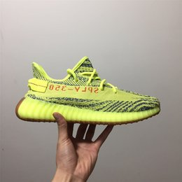 Wholesale Raw Rubber - Semi Frozen Yellow Gum Soles Raw Steel Red B37572 Yellow Zebra Boost 350 V2 Beluga 2.0 Grey Bold Orange AH2203 Shoes 350v2 Sneaker
