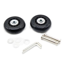 Wholesale Replacement Luggage Wheels - 2set 60X18mm Luggage Suitcase   Inline Travel Skate Replacement Wheels Black
