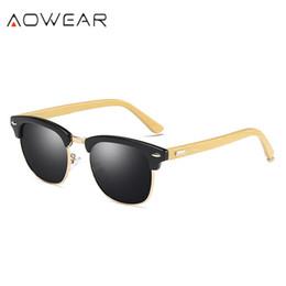 AOWEAR Piloto De Bambu Óculos De Sol Das Mulheres De Madeira Polarizada  3016 Raios de Óculos De Sol para Homens Mulher De Condução De Madeira  Máscaras ... 1c577b8e49