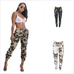 faja de la cadera Rebajas 3 colores Camo Jogger de camuflaje pantalones de carga para mujeres Casual Streetwear bolsillos Fajas pantalones de chándal Hip Hop Track Pant Femme S-XL