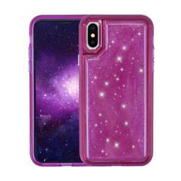 2019 geléia de telefone Para ip x case hybird bling cristal jelly telefone tpu pc redução de pressão casos de capa traseira para ip 6 7 8 plus case 50 pcs
