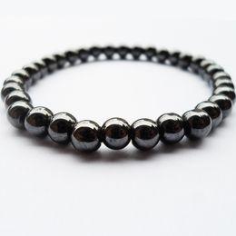 Perles 6mm semi-précieuses en Ligne-2018 Nwe Goods 6MM noir hépatite pierres précieuses bouddha perles santé Bracelet en pierre semi-précieux bijoux