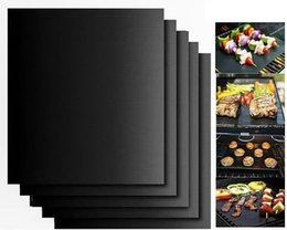 Wholesale Electric Heating Oven - Barbecue Grilling Liner BBQ Grill Mat Portable Non-stick and Reusable Make Grilling Easy 33*40CM 0.2MM Black Oven Hotplate Mats By LLFA