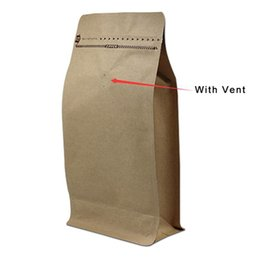 Wholesale valve opening - DHL 100Pcs Lot Opening Top Kraft Paper Aluminum Foil Zip Lock Packaging Bag Doypack Coffee Beans Package Bag With Vent Valve