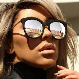 b4abe7bb5f3 2017 New Hot Vintage Cat Eye Gradient Brand Designer Retro Mirror  Sunglasses Rays Protection Women UV400 Lady Sun Glasses Female D18101302