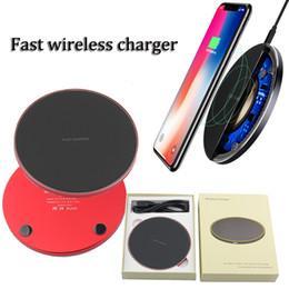 pad de chargement sans fil 5v Promotion Universal Q1 Chargeur rapide sans fil 5V 2A 9V 1.67A Pad de charge Station d'accueil pour téléphone portable pour iphone 8 xs max S8 S10 NOTE 8
