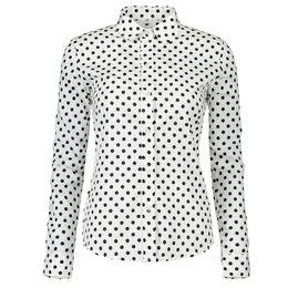 ad22d1c6a9e9 black white polka dot shirt blouses Australia - Vintage White Blouse Women  Shirt 2018 New Autumn