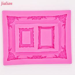 Jialian зеркальная фоторамка моделирование 3D силиконовые формы украшения торта прессформы фондант FT-0950 supplier pictures cakes от Поставщики фотографии торты