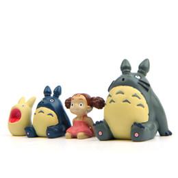 Wholesale Action Figure Anime Resin - Super Cute My Neighbor Totoro Make a Wish Action Figure Miyazaki Hayao Anime Model 2.8cm Decoration Doll Kids Toys