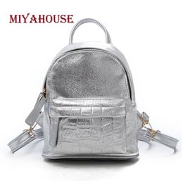 f941d503ea20 Miyahouse 2018 New Wild Women PU Leather Backpack Fashion Travel Mini  Rucksack For Female Solid Color Lady Knapsack