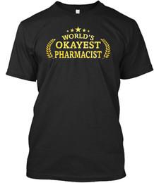 stilvolle männer t-shirts Rabatt Stilvolle Welten Okayest Apotheker Stylisches T-Shirt Stylisches T-Shirt T-Shirts Hipster O-Ausschnitt 2018 New Fashion Men's