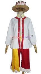 Wholesale Straw Hats Luffy - One Piece Whole Cake Island Arc Straw Hat Monkey D Luffy Uniform Cosplay Costume