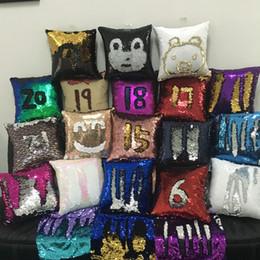 замшевые подушки Скидка DHL 34 цвета замши материал реверсивный русалка блестками подушки двойные цвета блестками наволочка горячее надувательство на рождество и хэллоуин